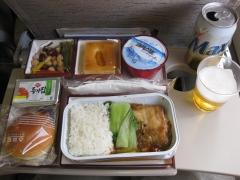 帰りの機内食